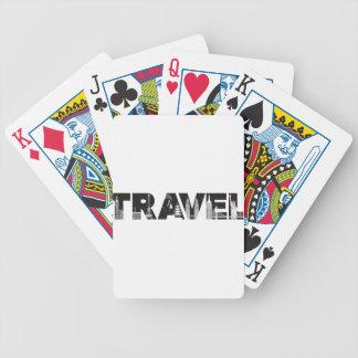 Contour des textes de voyage avec des points de jeu de cartes