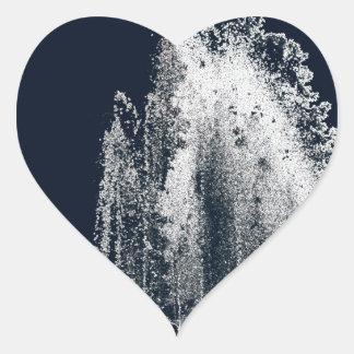 contour d'une nuit bleue sticker cœur