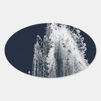 contour d'une nuit bleue sticker ovale