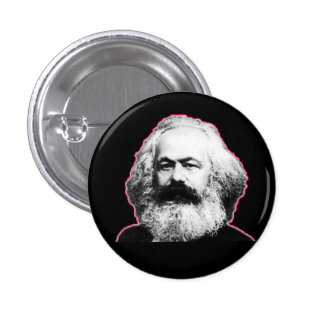 Contour/noir rouges de Karl Marx Badge