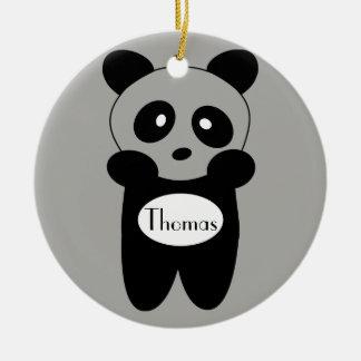 Contour ornement Bébé Panda