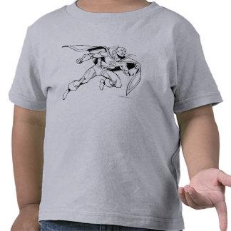Contour rouge de tornade t-shirts