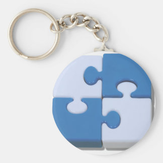 ContrastingPuzzle101310 Porte-clé Rond