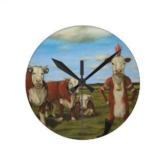 Contre le troupeau horloge ronde