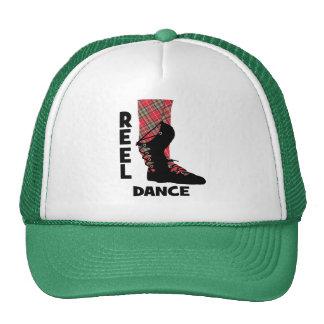 Contredanse écossaise de danse de bobine orientée casquette de camionneur