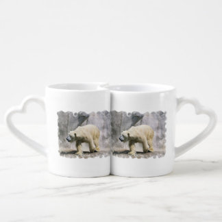 Contrefiche d'ours blanc tasse duo