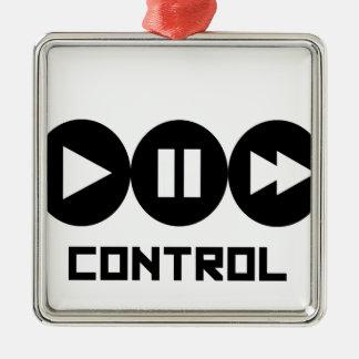 Control - Black Ornement Carré Argenté