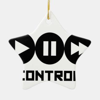 Control - Black Ornement Étoile En Céramique