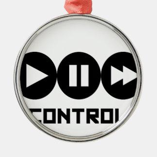 Control - Black Ornement Rond Argenté