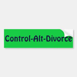 Contrôle-Alt-Divorce Autocollant Pour Voiture