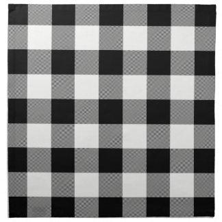 Contrôle de Buffalo blanc et noir - serviettes de