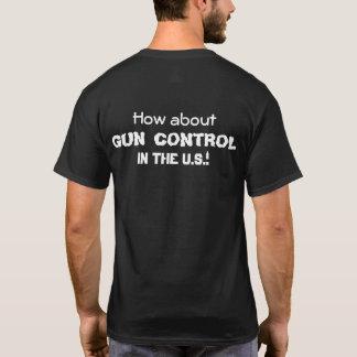 Contrôle des armes dans le T-shirt des États-Unis