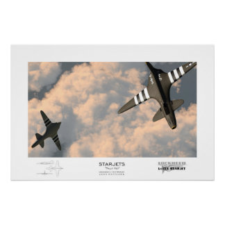 """""""Contrôle Ho !"""" Starjets : Lockheed L-133 Posters"""