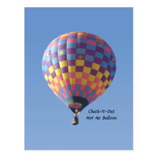 Contrôle-il- Carte postale chaude de ballon à air