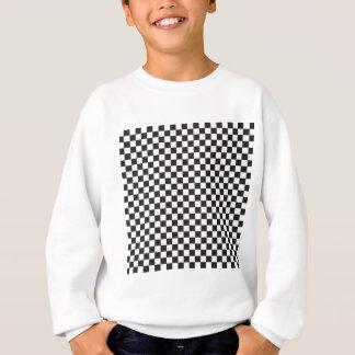 Contrôles noirs et blancs de damier sweatshirt