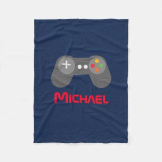 Contrôleur bleu de jeu vidéo