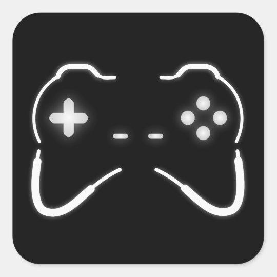 Contrôleur de jeu sticker carré