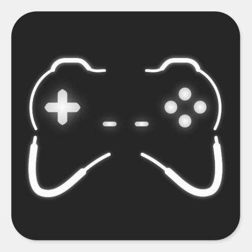 Contrôleur de jeu stickers carrés