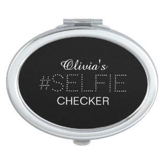 Contrôleur personnalisé élégant de #Selfie Miroir De Poche
