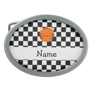Contrôleurs nommés personnalisés de blanc de noir  boucle de ceinture ovale