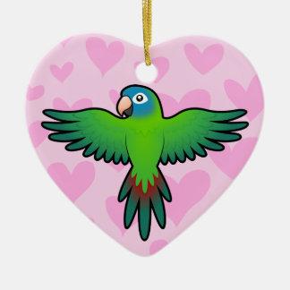 Conure/Lorikeet/amour de perroquet Ornement Cœur En Céramique