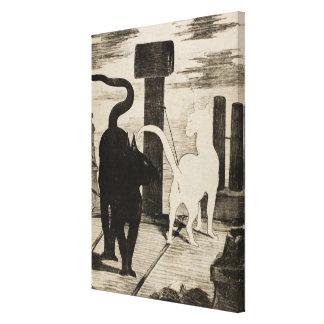 Conversations de DES d'Edouard Manet Le Rendez-vou Toile Tendue Sur Châssis