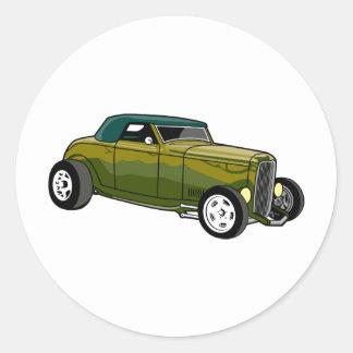 Convertible vert de hot rod autocollant