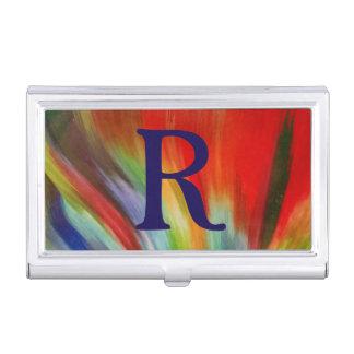 cool abstrait coloré lumineux d'art d'aquarelle de boîtiers pour cartes de visite