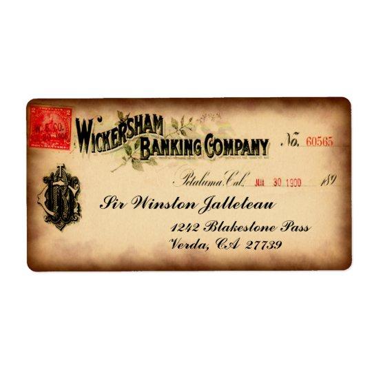Cool ancien de Wickersham Étiquettes D'expédition