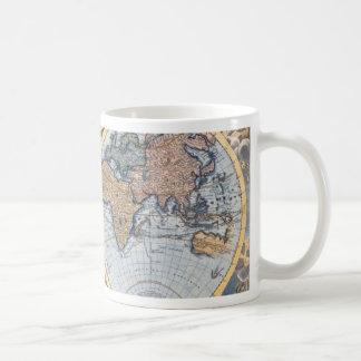 Cool antique de carte du monde mug blanc