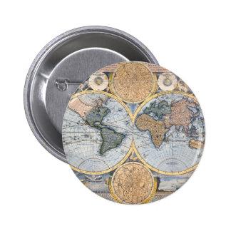 Cool antique de carte du monde pin's