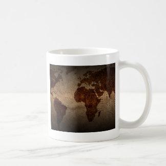 Cool antique de carte du monde tasse