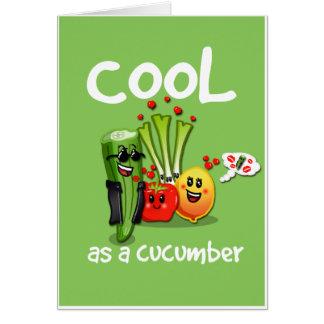 Cool comme carte de voeux de concombre