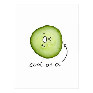 cool comme carte postale de concombre