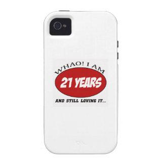 cool conceptions d'anniversaire de 21 années coque Case-Mate iPhone 4