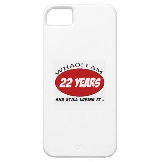 cool conceptions d'anniversaire de 22 années coque Case-Mate iPhone 5