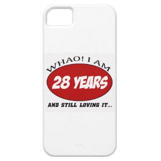 cool conceptions d'anniversaire de 28 années coque Case-Mate iPhone 5