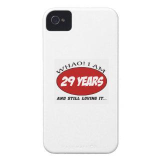cool conceptions d'anniversaire de 29 années coques iPhone 4 Case-Mate