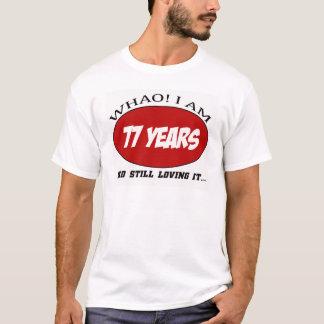 cool conceptions d'anniversaire de 77 années t-shirt