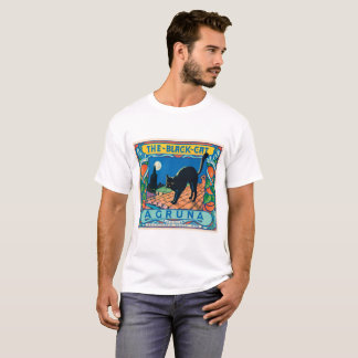Cool d'art vintage d'étiquette d'Agruna de chat T-shirt