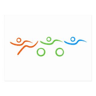 Cool de triathlon et conception unique carte postale