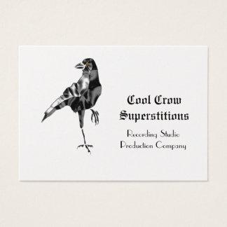 Cool superstitieux de corneille noire cartes de visite