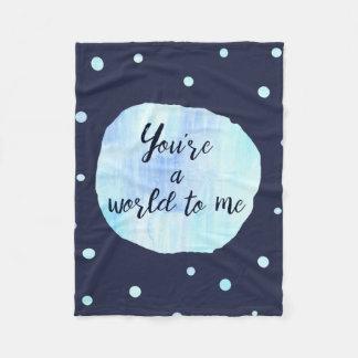 Cool vous êtes un monde à moi couverture bleue
