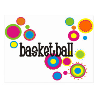 coolpolkadots-basketball-10x10-version4 carte postale