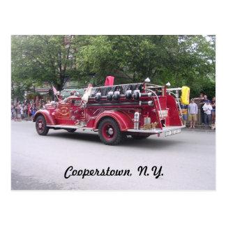Cooperstown, N.Y. a retiré le camion de pompiers Carte Postale