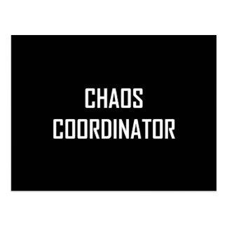 Coordonnateur de chaos carte postale