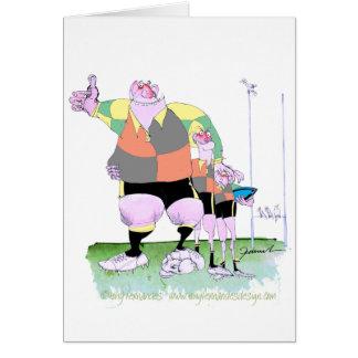 Copains de rugby, fernandes élégants carte de vœux