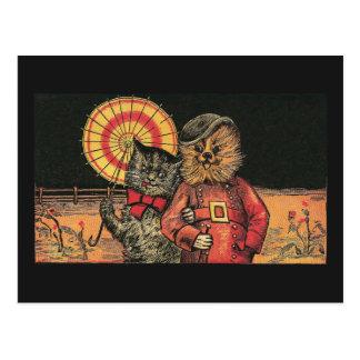 Copains victoriens de chat et de chien cartes postales