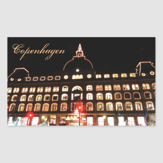 Copenhague, Danemark la nuit Sticker Rectangulaire