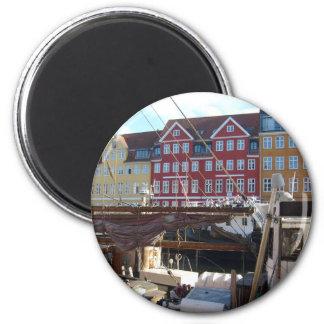 Copenhague, Danemark Magnet Rond 8 Cm